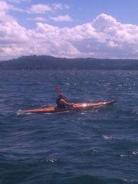Heirloom Kayak on Lake CDA - windy day in spring 2012