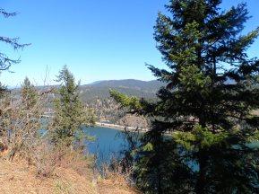 Lake CDA coming into view