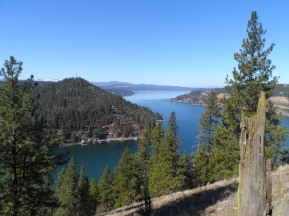 View of Lake CDA from Mineral Ridge