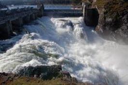 waterfall at falls park