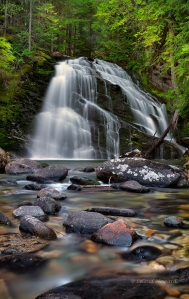 Idaho, Snow Creek Falls, Selkirk Range, Selkirk mountains, waterfalls, water, Kaniksu National Forest, scenic, nature, landscape, vertical, panoramic